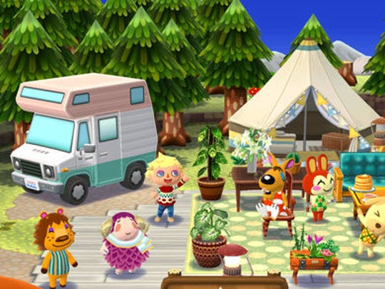 A scene from 'Animal Crossing: Pocket Camp.'