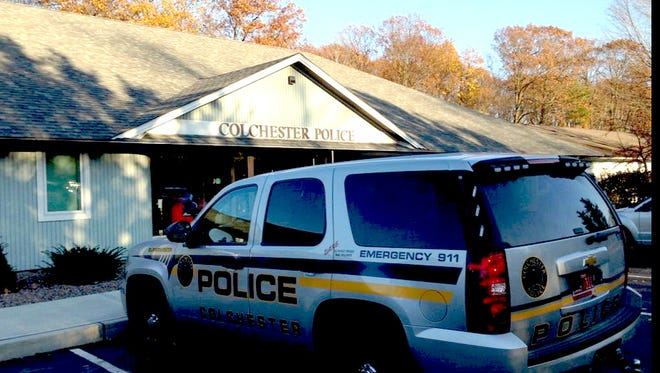 A view of the Colchester Police Department on Tuesday, Nov. 11.