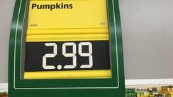 Aldi pumpkins were the cheapest at $2.99