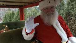 Jim Mitchell in his sleigh outside his Jackson home.