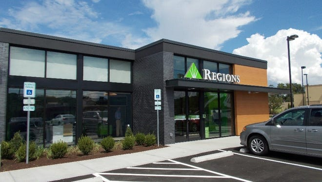 The new Regions Bank location at 6700 Nolensville Pike.