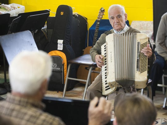 Gevardo Masucci of Vineland plays for an audience during the Annual Accordion Day at Acme Accordion School last fall in Westmont. Studies show there are multiple benefits for older adults to commit to regularly learning and playing music.