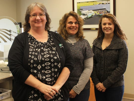 From left, Kim Bloom, Kelly Murren and Cortney Knotts serve members of the Adams Electric Cooperative, Inc. in the Gettysburg district.