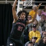 Incoming Michigan State recruit Deyonta Davis of Muskegon High was a runaway winner of Michigan's Mr. Basketball Award on Monday.