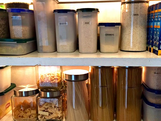 Clear containers make for an organized pantry and keep food fresh and free of pests.