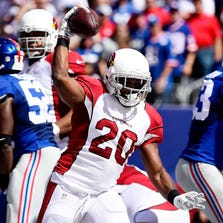 Running back Jonathan Dwyer #20 of the Arizona Cardinals.