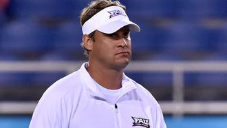 Florida Atlantic Owls head coach Lane Kiffin prior to a game against Fiu Golden Panthers at FAU Football Stadium.