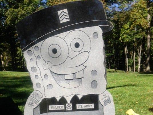 spongebob gravestone