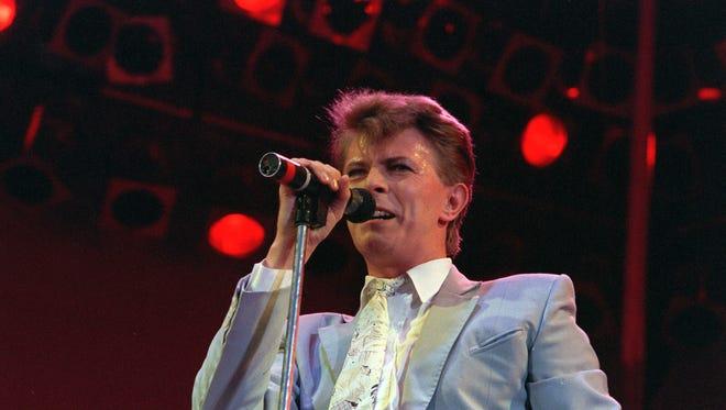 Rock star David Bowie.
