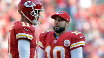 Chiefs backup QB Chase Daniel (10) will play in place of Alex Smith on Sunday.