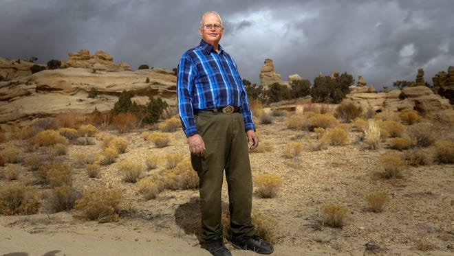 Tommy Bolack of Farmington, photographed at his home Monday, plans to challenge current Undersheriff Shane Ferrari in the race for San Juan County Sheriff.