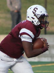 Seaholm's first-year starting quarterback Joel Mitchell had a strong second-half agianst Bloomfield Hills on Thursday.