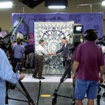 """A taping of """"Antiques Roadshow"""" in 2001 at the Indiana Convention Center."""