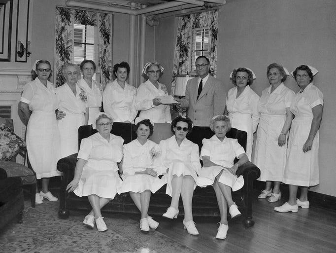 State school nurses awards. 1954.