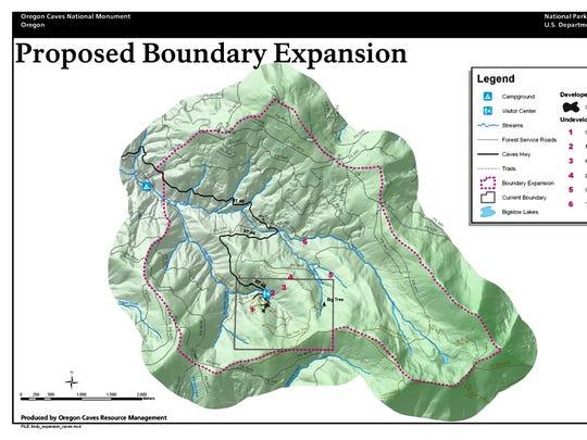 Oregon Caves map