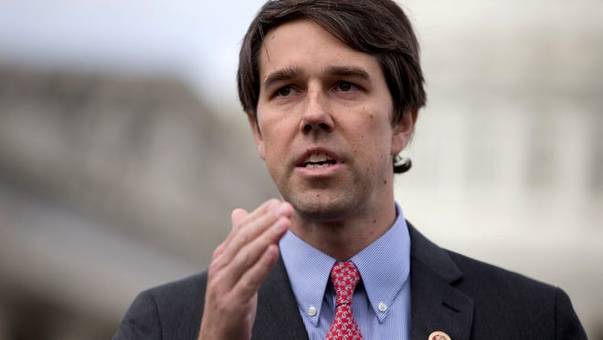 In this Feb. 27, 2013, file photo, U.S. Rep. Beto O'Rourke, D-El Paso, speaks during a news conference on Capitol Hill in Washington, D.C. Incumbent Republican U.S. Sen. Ted Cruz, who is seeking a second term, has seen O'Rourke raise more campaign donations in their battle for the Senate seat. O'Rourke also has visited more of Texas lately.