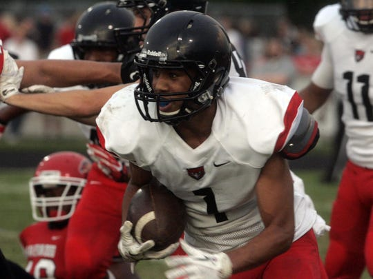 Stewarts Creek and senior Cynterius Lyons (1) will travel to Smyrna High on Aug. 28 for a non-region game with the Bulldogs.