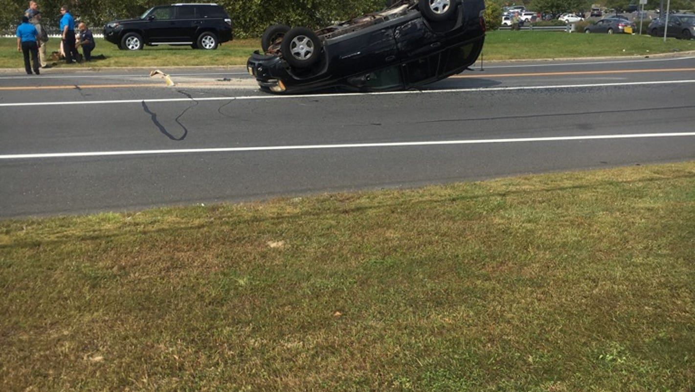 1 hospitalized after car overturns on route 66 for 66 nail salon neptune nj