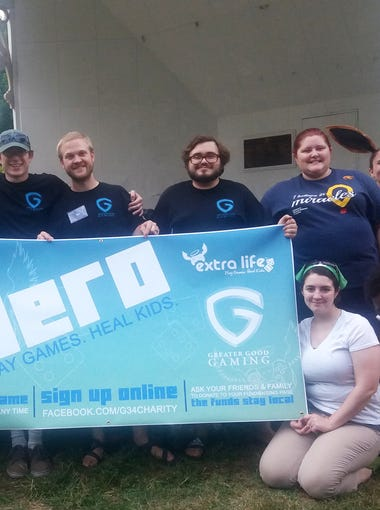 Members of Staunton's Greater Good Gaming: Matthew Wallace, Lydia Robertson, Aaron Miller, Jimmy Tanner, Tony Robertson, Colin Clark, Katherine Jones, Alex Blanton, Brynna Strand, CJ Puffenbarger, Mary Aislynn, Brandon Jones and Fiona Miller at a Pokemon GO charity event in August 2016. G3 organized a scavenger hunt based on the game, linking the event with the online nonprofit organization Extra Life. G3's fundraiser raised $1,000 for UVA Children's Hospital in one day. Extra Life unites players globally in 24-hour fundraising and gaming marathons to support Children's Miracle Network Hospitals.