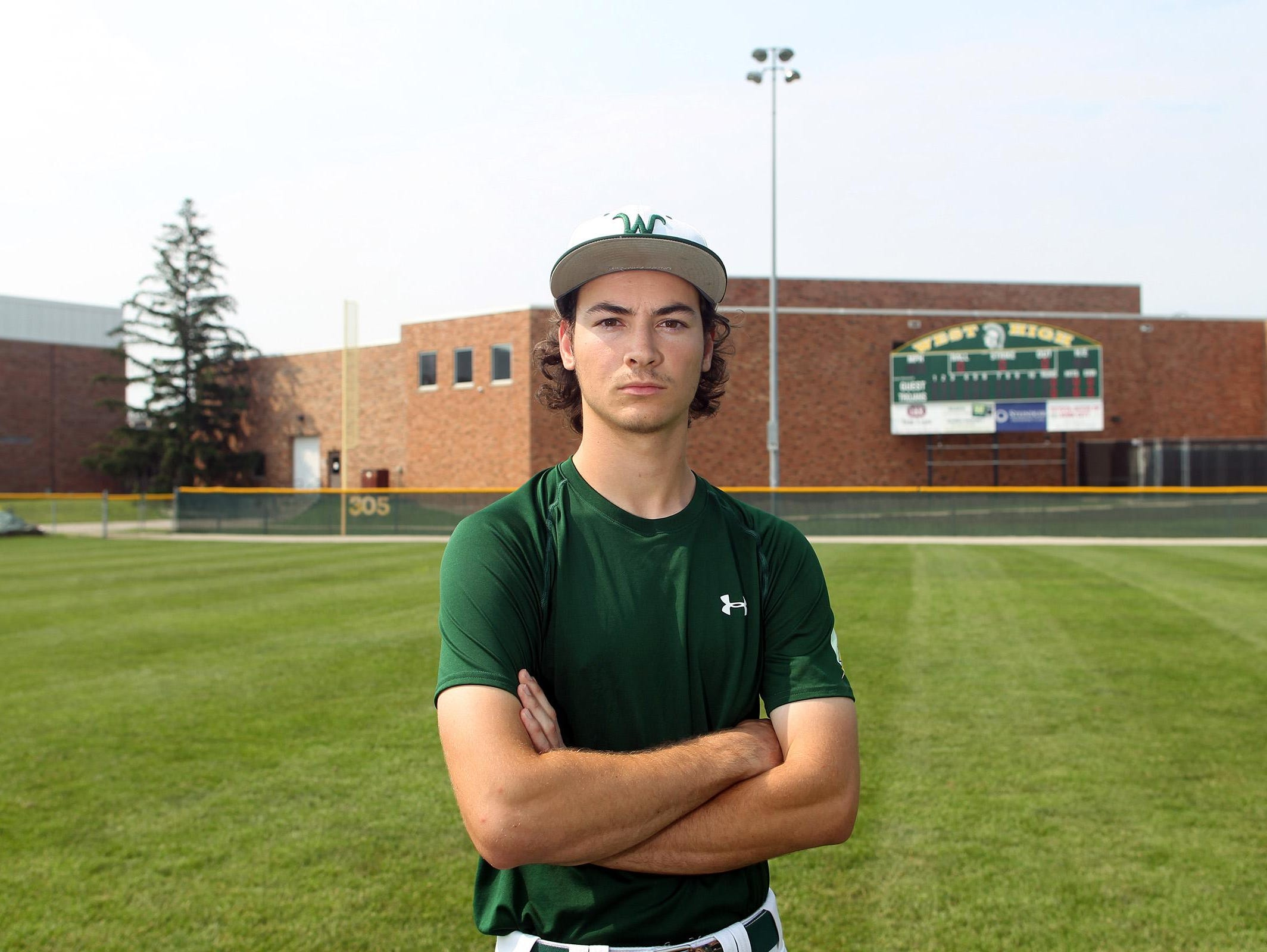 West High senior Kevin DeLaney poses for a photo before practice on Wednesday, July 1, 2015.