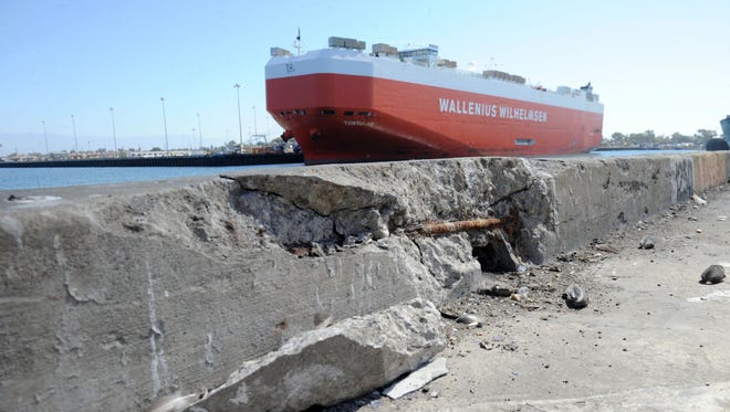 The Port of Hueneme has received some eco-friendly construction supplies for its deepening projects and is also making improvements to the port to attract larger ships.
