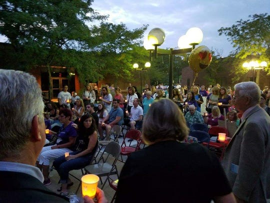 Candlelight vigil held at the 2016 International Overdose