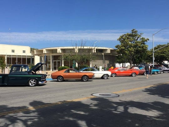 Cars lined the streets during the first annual Salinas