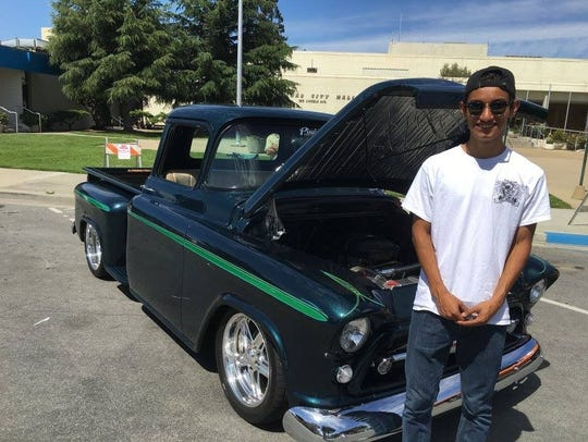 A participant in the first annual Salinas PAL car show