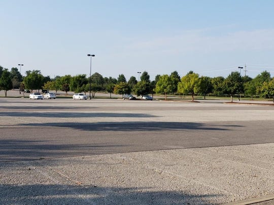 There were lots of open spots in MTSU's Rutherford Lot on the first day of the fall semester.