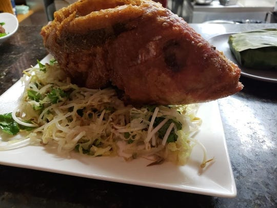 Tempura snapper from A Toute Heure with Vietnamese