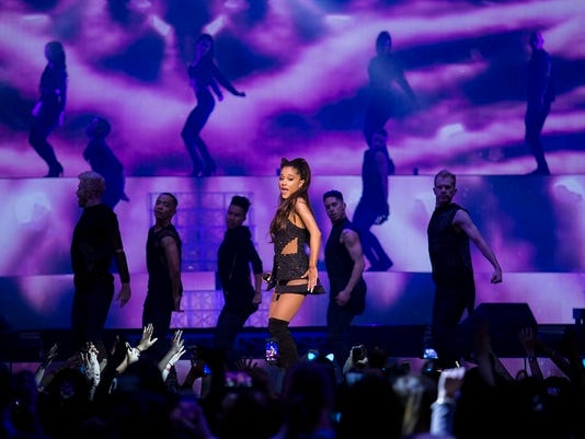 Singer Ariana Grande performs at Madison Square Garden on Friday, March 20, 2015, in New York. (Photo by Greg Allen/ Invision/ AP)