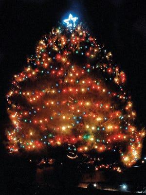 Annual tree lighting at Albert Johnson Park.