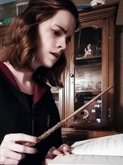 Kari Lewis dressed as Hermione Granger, actor Emma