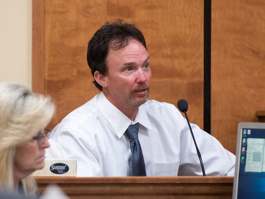 Billy Jason Carson is questioned during his sentencing