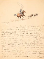 CHARLES M. RUSSELL (1864–1926)Letter to Frank Fulkerson (1903)watercolor on paper10 × 8 inches, envelope 3.5 × 6 inchesEstimate: $60,000-90,000