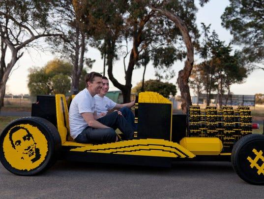 Lego car by Steve Sammartino and Raul Oaida