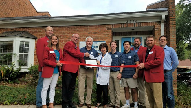Tallahassee SmileLabs Teeth Whitening Salon, owned by Majesty and Kendall Coates of Tallahassee, held their Chamber of Commerce ribbon cutting on Friday, May 12