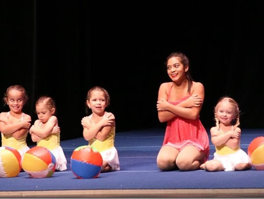 The Acrotots (3-5 year old class) performing with Leomary