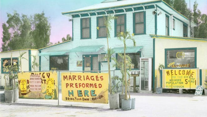 Photographer Niki Butcher hand-colored this print of historic Monroe Station