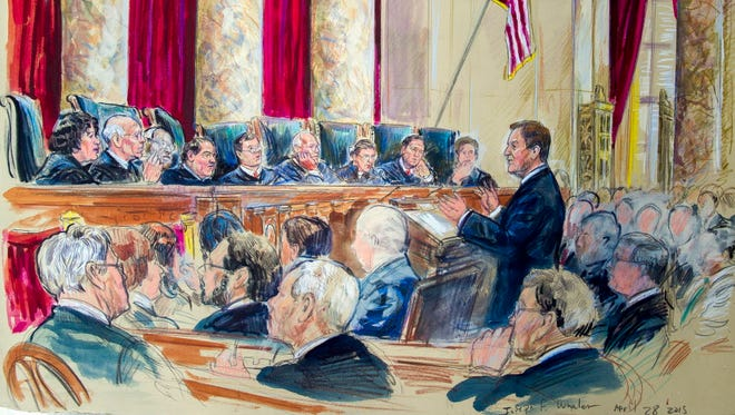 Artist rendering of the Supreme Court in 2015.