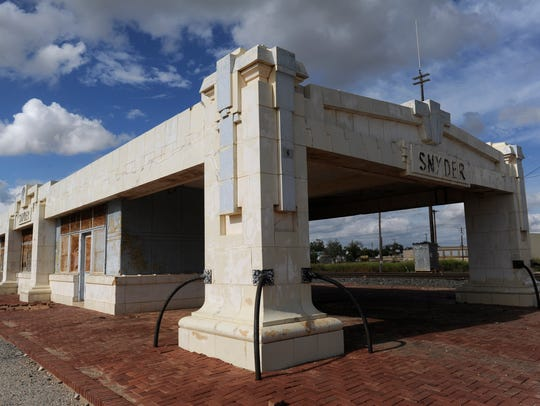 The 106-year-old Snyder Santa Fe Depot Wednesday, Oct.
