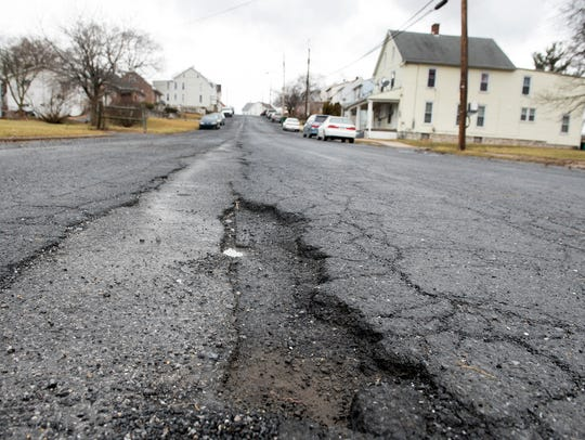 Elder Street, in the northwest end of Chambersburg,