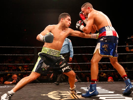 Josesito Lopez and Miguel Cruz traded punches in bunches