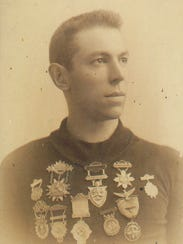 Terry Andrae, park namesake, wearing many of the medals