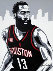 Ben Erickson's portrait of James Harden hasn't been