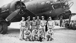 This 1943 file photo shows the crew of the Memphis