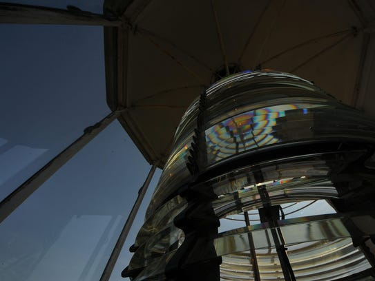 A look at the multi-prism Fresnel lens used at Cana
