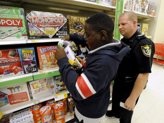Shop with a Cop, Target, Pensacola, Escambia County Sheriff's Office