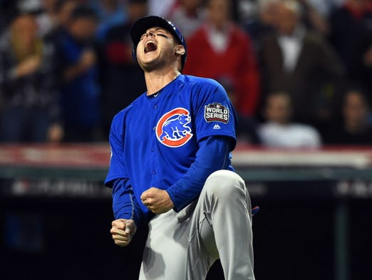 Game 7 in Cleveland: Cubs first baseman Anthony Rizzo