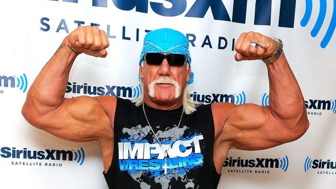 Lengendary wrestler Hulk Hogan visits SiriusXM Studios on Oct. 13, 2011, in New York. Hogan will host Sunday's WrestleMania 30 in New Orleans.